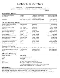 downloadable free resume templates actors resume template acting free collaborativenation
