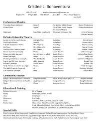 actor resume template actors resume template acting free collaborativenation