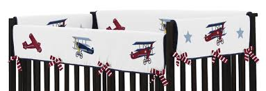 Airplane Bedding Sets by Navy Blue Vintage Airplane Baby Boy Crib Bedding Set 9pc Nursery