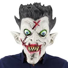 Zombie Mask Latex Full Head Scary Zombie Mask Horror Toothy Ghost Masks For