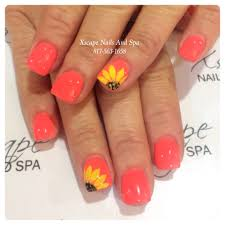 sunflower nails summer nails cute nails designs pinterest