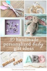 10 beautiful handmade personalized baby gift ideas