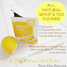 diy all natural tile and grout cleaner