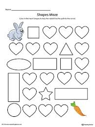heart shape maze printable worksheet color printable