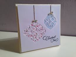 tonic baubles christmas card tutorial youtube