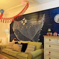 Fish Mediterranean Style Fish Net Hanging Decorative Home Decor Nautical Fishing Mesh