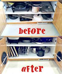 how to organize pots and pans in a cupboard organizing the dreaded pots pans cabinet pinlavie