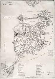 Boston Map by Map Of Boston D B Jackson