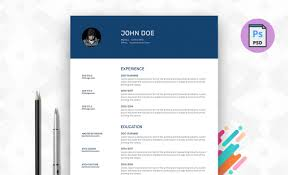 Free Resume Template My Info Available In Psd Format
