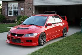 mitsubishi evo slammed mitsubishi lancer evolution tech voltex aero installation modified