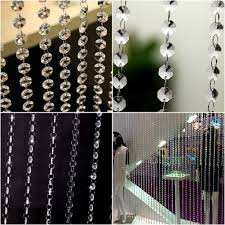 amazon com clear acrylic crystal beads strand window door wedding