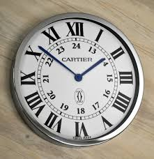 ronde solo de cartier dealers showroom wall clock display ebay