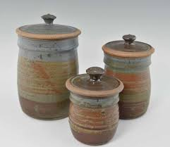 kitchen canisters sets handmade pottery canister set oasis glaze giftedpottery com