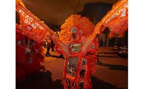 orange mardi gras mardi gras indians boys flag boys big chiefs the bitter