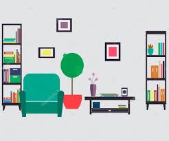 home furniture interior design u2014 stock vector sunnygirl94