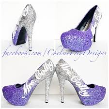 shimmer lights purple shoo lilac glitter high heels purple lavender silver pumps wedding