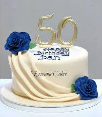 50 birthday cake birthday cakes for women ivory and blue 50th birthday