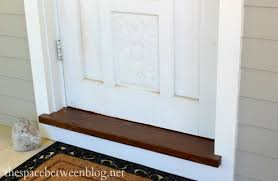 Thresholds For Exterior Doors To Paint Or To Stain The Front Entry Threshold The Answer