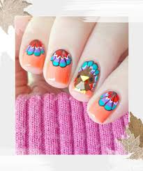 feathered fingertips 18 thanksgiving and fall nail ideas that