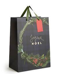 tartan wreath large christmas gift bag m u0026s
