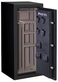 stack on 18 gun convertible gun cabinet amazon com stack on a 24 mb e s armorguard 24 gun safe with