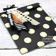 how to make your own halloween treat bags die cut cards paper