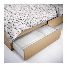 malm underbed storage box for high bed white stained oak veneer