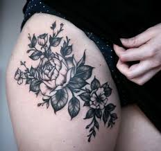 the 25 best thigh tattoo pain ideas on pinterest rose tattoo