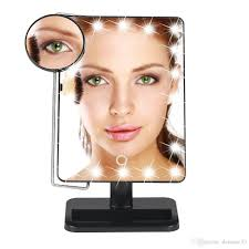 lady led light makeup mirror folding cosmetic mirror portable