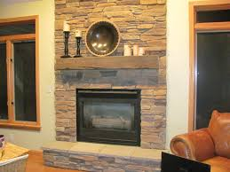 stacked stone fireplace the great fresh home concept image of