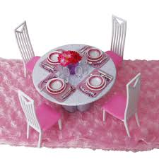 doll house dining room furniture table chair dinnerware play set