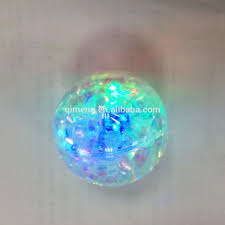 promotional bouncy with liquid glitter filled inside buy