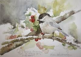 watercolor tutorial chickadee vickie s sketchbook carolina chickadee in snowy holly