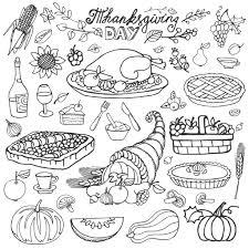 thanksgiving icons cliparts harvest cornucopia turkey