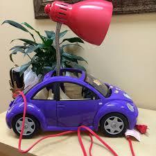 volkswagen barbie purple barbie vw bettle repurposed as girls room desk lamp