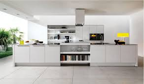 fully white kitchen theme with high end appliances for