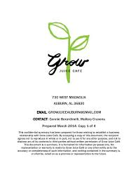 grow a juice cafe business planbar business plan chinese