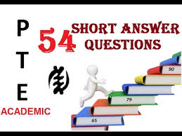 pte academic answer questions with answers