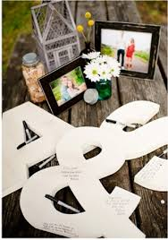 monogram guest book guestbook inc all 3 pieces 18 high wooden letters monogram