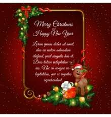 square black christmas card with gold frame vector image