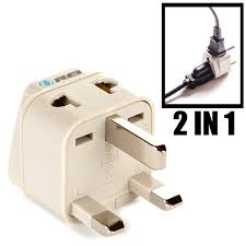 amazon com orei grounded universal 2 in 1 plug adapter type g for