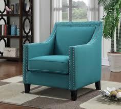 Aqua Accent Chair Chair W Chrome Nails Aqua Teal