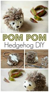 hedgehog pom pom craft easy and fun