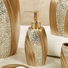 glamour mosaic champagne gold bath accessories glamour bathroom