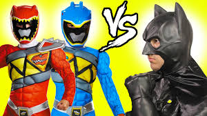 power rangers vs batman vs joker superheroes in real life movie