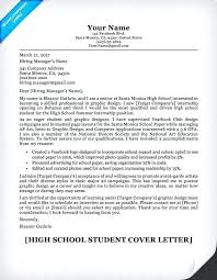 resume writing a resume cover letter high student sample