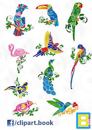 tropical bird clipart clipartxtras