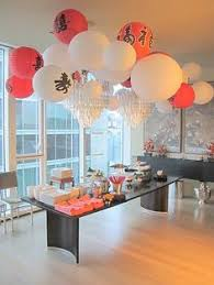 New Year Decoration Ideas In Office hanging paper lanterns for chinese new year we love the red