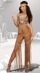 Hippie Costumes Halloween Peace Hippie Costume Fringe Hippie Costume Faux Brown