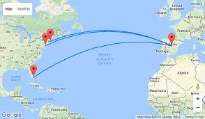 United Flight Map Non Stop From Several Us Cities To Madrid From Only 359